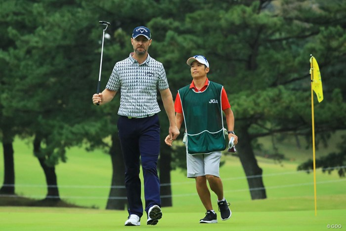 パターで襲い掛かって来るのかと思いました。 2018年 日本オープンゴルフ選手権競技 初日 ブレンダン・ジョーンズ