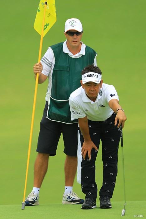 今日はパッティングが冴えてましたねぇ。 2018年 日本オープンゴルフ選手権競技 初日 藤田寛之