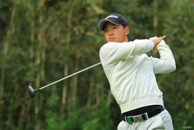 アマチュアの桂川有人が単独首位で決勝ラウンドに進んだ