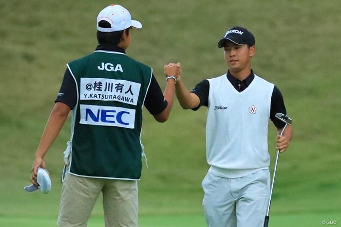 決勝を単独首位で迎えるアマチュアの桂川有人 2018年 日本オープンゴルフ選手権競技 2日目 桂川有人