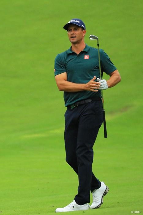 俺もユニクロで緑のポロシャツ買うかな。 2018年 日本オープンゴルフ選手権競技 2日目 アダム・スコット