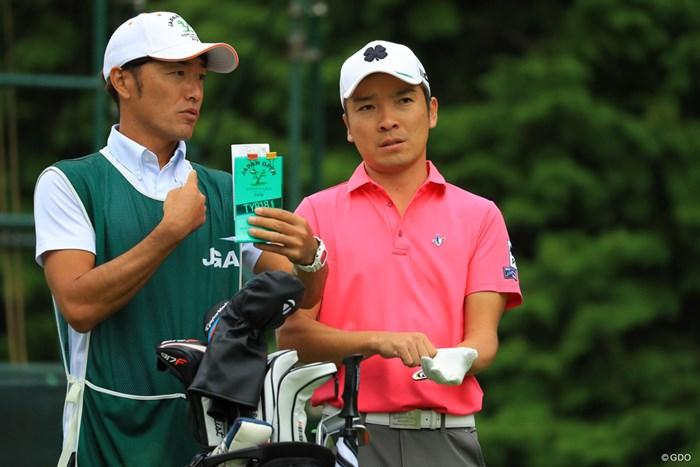 気合の入った表情も。 2018年 日本オープンゴルフ選手権競技 2日目 日高将史