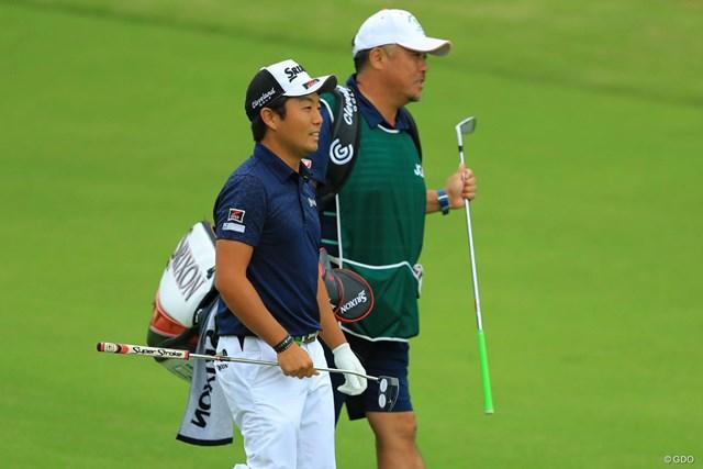 2018年 日本オープンゴルフ選手権競技 3日目 稲森佑貴 単独首位に立った稲森佑貴。「日本オープン」でツアー初優勝となれば2009年の小田龍一以来8人目となる