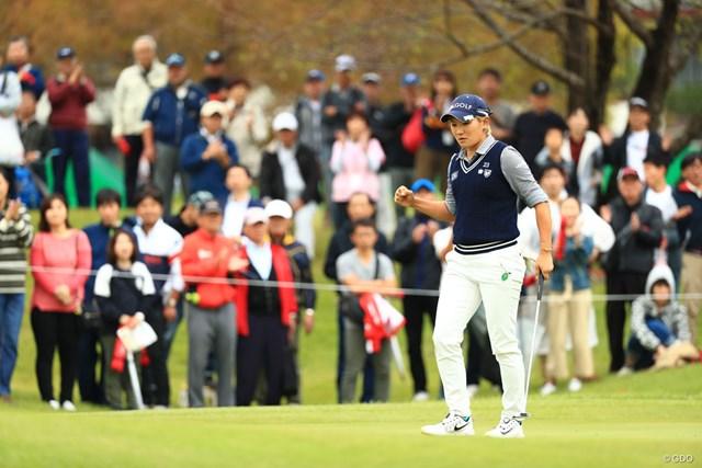 成田美寿々がツアー通算11勝目を遂げた