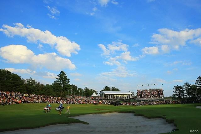 2018年 日本オープンゴルフ選手権競技 最終日 ギャラリー 最終日は8011人のギャラリーを動員した今年の「日本オープン」