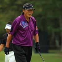 5番バーディにご満悦の表情。でも残念ながら途中棄権に。 2018年 ブリヂストンオープンゴルフトーナメント 2日目 尾崎将司
