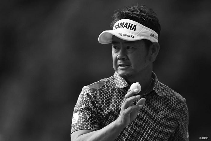 モノクロで仕上げたくなる味のある藤田さん。 2018年 ブリヂストンオープンゴルフトーナメント 3日目 藤田寛之