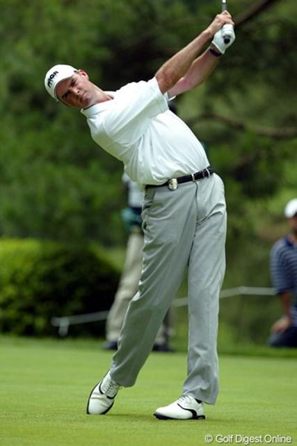 2005年 日本ゴルフツアー選手権 宍戸ヒルズカップ 3日目 デビッド・スメイル スコアを伸ばせなかったスメイルだが、首位をがっちりキープ