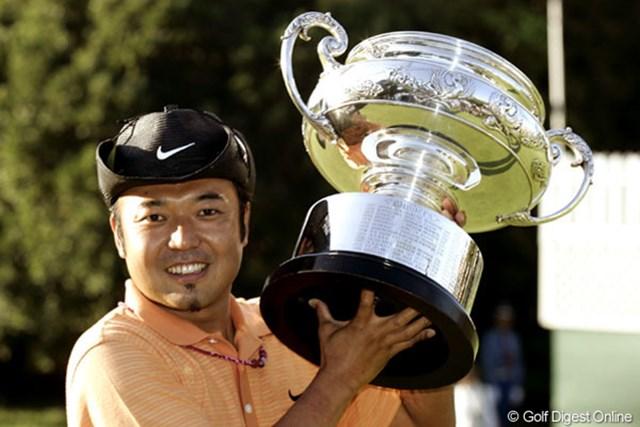 今季初優勝を日本オープンで飾った片山晋呉
