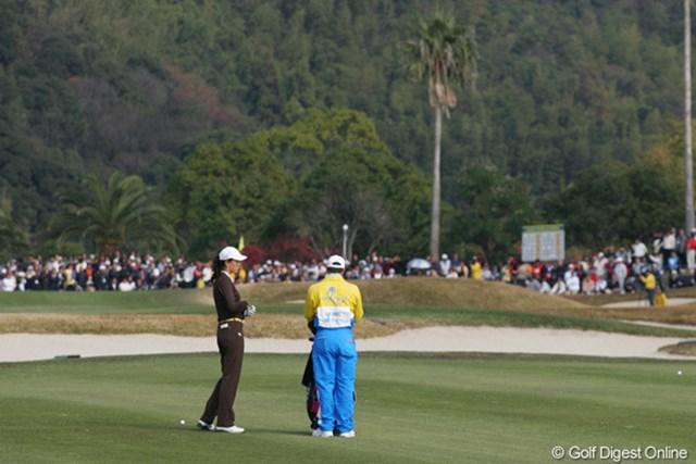 2005年 カシオワールドオープンゴルフトーナメント 2日目 ミッシェル・ウィ 3バーディ、6ボギーと出入りの激しい1日となったミッシェル・ウィ