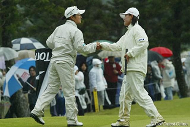 注目の宮里藍&横峯さくらは、2日間続いたがお互い最高の結果を残すことは出来なかった。残す最終日の奮起に期待!
