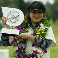 我慢のゴルフで3年ぶりの優勝を飾った藤野オリエ 2005年 ダイキンオーキッドレディスゴルフトーナメント 最終日 藤野オリエ