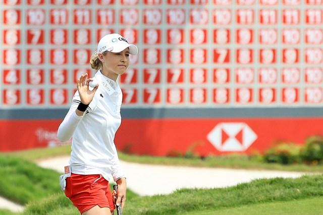 ネリー・コルダが首位に並んだ(※撮影は18年HSBC女子チャンピオンズ 3日目/Andrew RedingtonGetty Images)