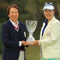 大会名誉会長の樋口さんと一緒に 2018年 樋口久子 三菱電機レディスゴルフトーナメント 最終日 ささきしょうこ