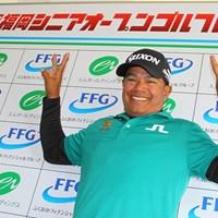マークセンは3季連続の賞金王に輝いた(※大会事務局提供) 2018年 福岡シニアオープンゴルフトーナメント 最終日 プラヤド・マークセン