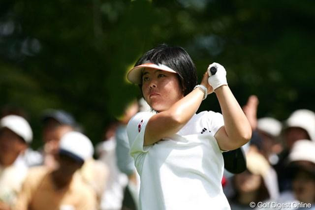 2005年 日本女子プロゴルフ選手権大会コニカミノルタ杯 初日 不動裕理 先週の勢いとは打って変わり、2オーバーと出遅れた不動裕理