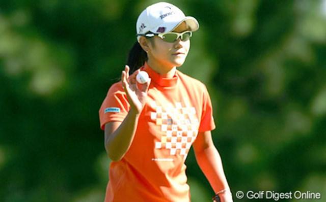 2005年 日本女子オープンゴルフ選手権競技 2日目 宮里藍 狙いどおり!?通算6アンダーまで伸ばし首位を快走する宮里藍