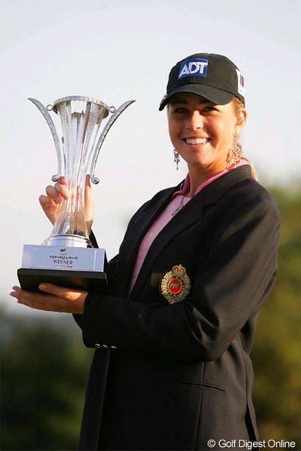 2005年 マスターズGCレディース 最終日 ポーラ・クリーマー 最終日スコアは伸ばせなかったが勝負どころのパットを決めて優勝したポーラ・クリーマー
