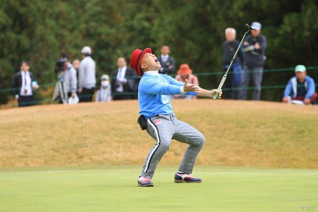 プロゴルファーばりのリアクションで盛り上げるゴルゴ松本さん