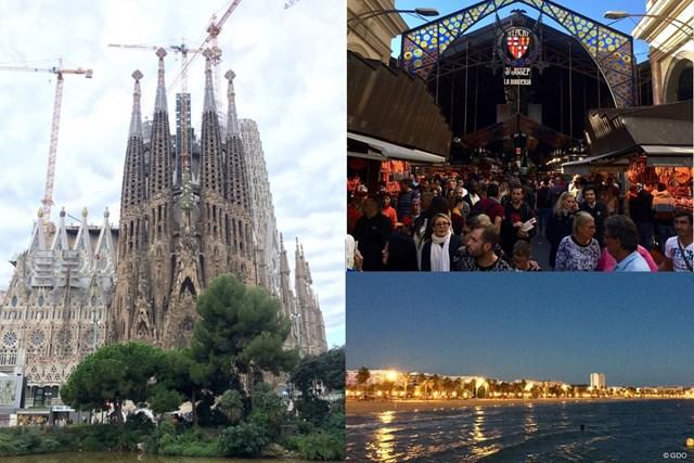 バルセロナの街並み サグラダファミリア(左)とバルセロナの市場(右上)。サロウは海に面した街です