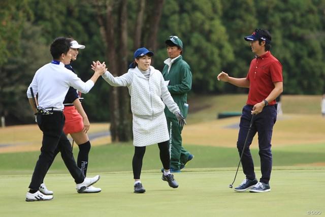 「チームアスリート」の武井壮、稲村亜美、吉田沙保里、石川遼は通算15アンダーでプロアマ戦準優勝に