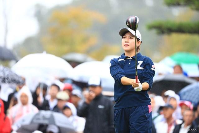 香妻琴乃はスタート前に棄権(写真は2018年ミヤギテレビ杯ダンロップ女子オープン)