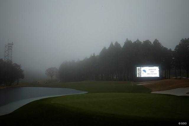 悪天候により第2ラウンドのサスペンデッドが決定した