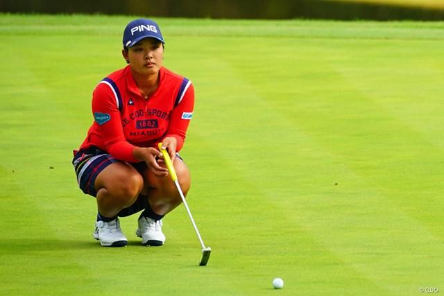 2018年 伊藤園レディスゴルフトーナメント 最終日 鈴木愛 賞金女王の可能性がなくなった鈴木愛。悔しさを押し殺し前を向いた