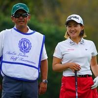 苦しい前半も笑顔を忘れなかったのが、後半の良いゴルフに繋がったね。 2018年 伊藤園レディスゴルフトーナメント 最終日 永井花奈