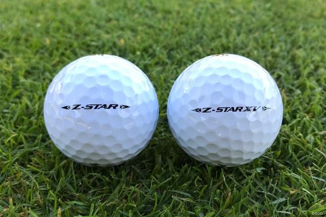 2018年 ダンロップフェニックストーナメント 事前 スリクソン Z-STAR、Z-STAR-XVボール Z-STARシリーズの新作。パットのライン合わせに最適なサイドロゴが変更された