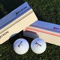 ツアープロに支給される発売前のボールは市場に出回らない箱で配布される 2018年 ダンロップフェニックストーナメント 事前 スリクソン Z-STAR、Z-STAR-XVボール