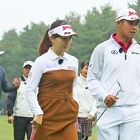 香妻琴乃は今週のシーズン最終戦に出場する 2018年 LPGAツアー選手権リコーカップ 事前 香妻琴乃&松山英樹