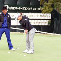 鈴木愛は練習場でパットの最終調整。高麗グリーンを攻略できるか 2018年 LPGAツアー選手権リコーカップ 事前 鈴木愛