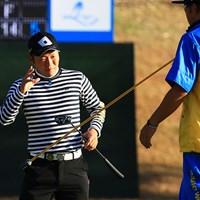 浅地洋佑はパッティングが好調。暫定ながら首位タイに立った 2018年 カシオワールドオープンゴルフトーナメント 初日 浅地洋佑