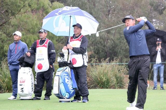 2019年 ISPSハンダ ゴルフワールドカップ 2日目 谷原秀人 小平智 フォアサムの2日目にスコアを崩した日本。21位に後退した ※大会提供