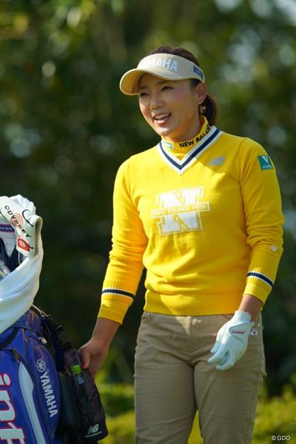 2018年 LPGAツアー選手権リコーカップ 3日目 有村智恵 デビュー当時から変わらないなぁ、なんてふと思いました。