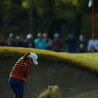 宮崎CCはバンカーのアゴも高くて難しそう。 2018年 LPGAツアー選手権リコーカップ 3日目 比嘉真美子