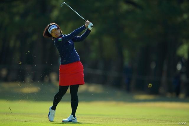 2018年 LPGAツアー選手権リコーカップ 3日目 大山志保 勢いに乗れず、スコアを伸ばせず。