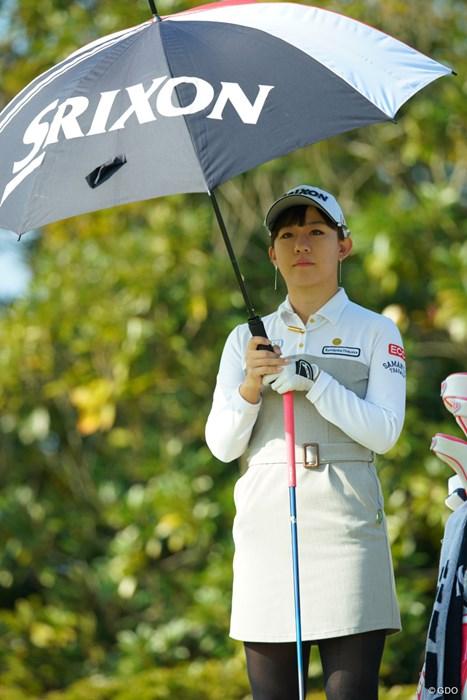 昼間は日傘が必要なほどの、南国宮崎の強い日差し。 2018年 LPGAツアー選手権リコーカップ 3日目 香妻琴乃