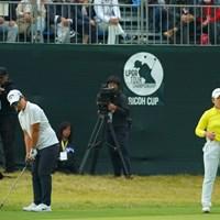 最後は最終組の2人の争いに。 2018年 LPGAツアー選手権リコーカップ 最終日 ペ・ヒギョン&申ジエ
