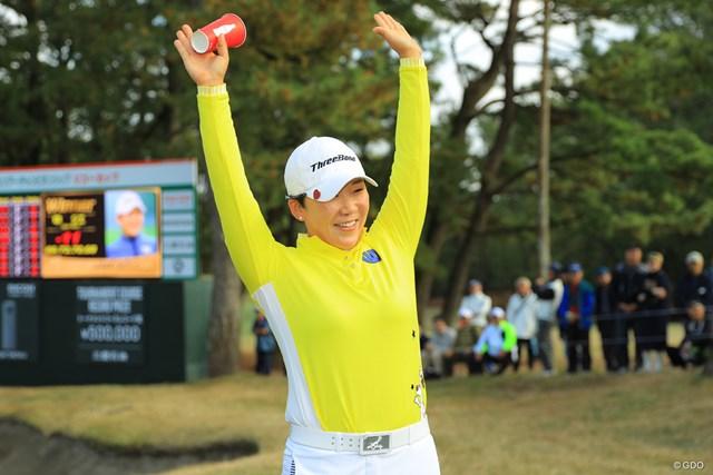 申ジエが2ランクアップの22位とした(※写真は2018年LPGAツアー選手権リコーカップ)