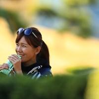 かわいいギャラリーがいたのでパシャり 2018年 ゴルフ日本シリーズJTカップ 2日目 藤田光里