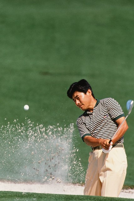 1990年のマスターズでプレーする尾崎直道(Augusta National/Getty Images)