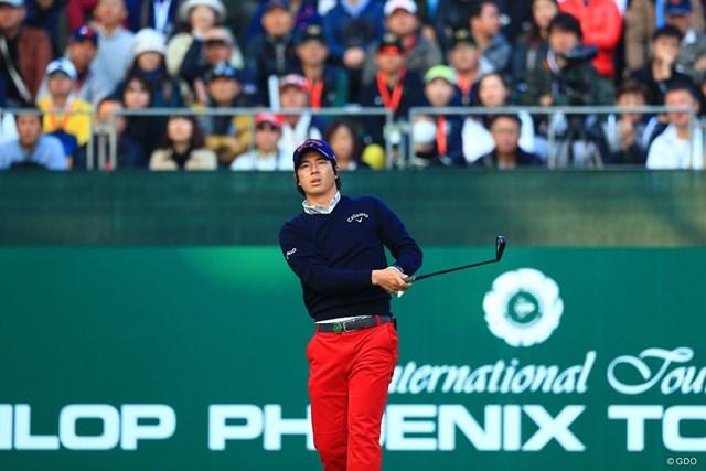 石川遼は終盤3試合、2Iに新たなシャフトを装着した(※撮影は「ダンロップフェニックストーナメント」)