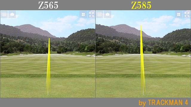 スリクソン Z585 アイアン/ヘッドスピード別試打 球筋は変わらないが、Z585のほうがやや弾道が高め