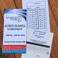 パー3コンテストのスコアカードも本格的! 2019年 アルフレッド・ダンヒル選手権 事前 パー3コンテストのスコアカード