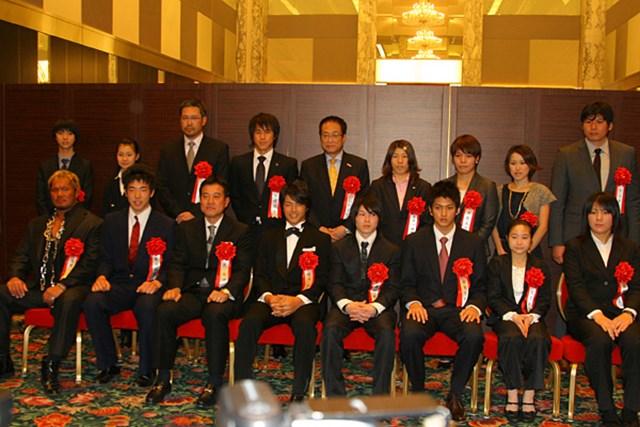 2010年 第44回ビッグスポーツ賞表彰式 石川遼 2009年に活躍した他種目のスポーツ選手たちが勢ぞろい