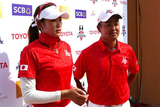 息ぴったりの2人。時松隆光と原英莉花のペアは初日に2連勝を飾った
