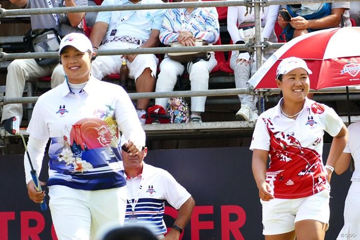 チームは敗れたが、畑岡奈紗はアリヤ・ジュタヌガンを破る金星で1年を締めくくった 2018年 アマタフレンドシップカップ 最終日 畑岡奈紗&アリヤ・ジュタヌガン