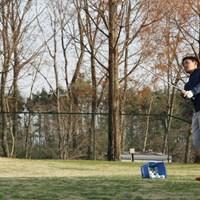 東北福祉大のゴルフ部はアプローチ・パターについては普段から練習し放題 2018年 金谷拓実